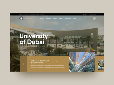 Main screen University of Dubai gsndesign iniversity of dubai university interaction dribbble flat design web ux ui animation motion design webdesign