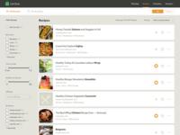 Lembas Recipes List Layout