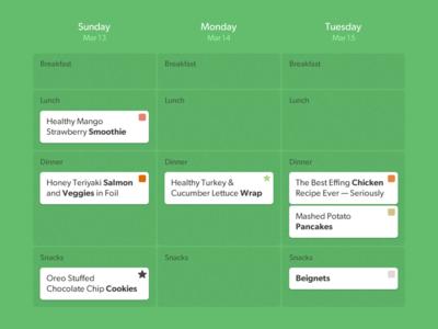 Lembas Mealplan Calendar
