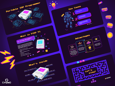 PISP Landing Page landing game retro animation web ui iot illustration figma design
