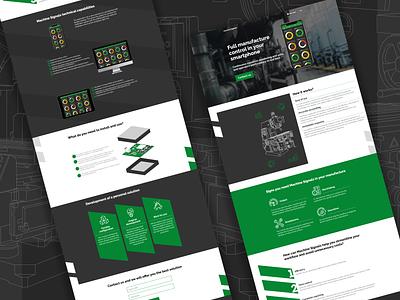 Machine Signals Landing Page web design web landing iot figma design