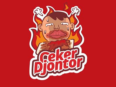 ceker djontor logo design vector illustration mascotlogo emblemlogo logo cartoonlogo