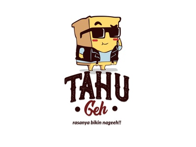 tahu geh logo design vector illustration mascotlogo logo emblemlogo cartoonlogo