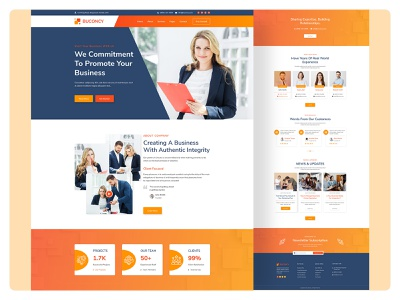 Creative Agency & Business Consulting Landing Page agency website design digital marketing web template template agency website digital marketing agency mordern design creative design adobe xd agency landing page ui uiux design landing page design design uiux designer template design landing page web design creativebusiness