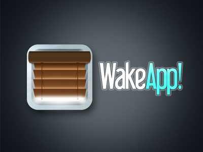 WakeApp! icon ios icon app design mobile web colombia wakeapp david vera wake app