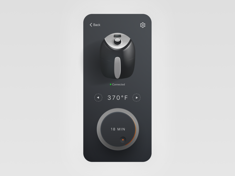 Smart Kitchen App - Dark Mode UI concept theme iphone smart app dark mode darkmode ui illustration figmadesign figma neumorphic design neumorphism neumorphic