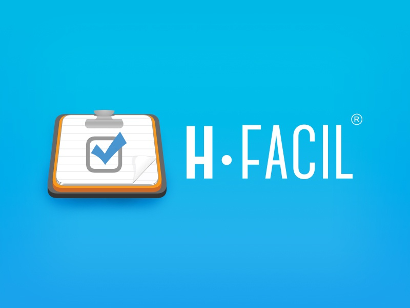 hFacil Web and Mobile App icon emr medical icon app web clinics records design