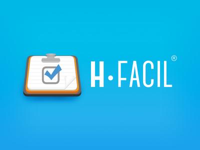 hFacil Web and Mobile App icon emr medical icon app web clinics records design