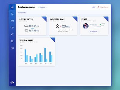 AutoPOS - Backoffice modern web gradients blue platform pos backoffice admin