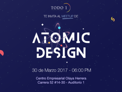 Meetup Atomic Design event atom design atomic invitation meetup
