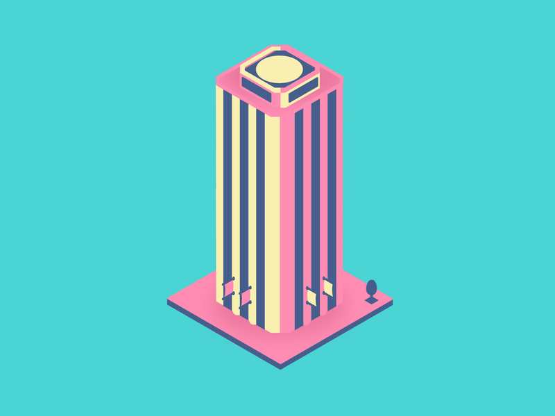 Flat Tower illustration vector design flat