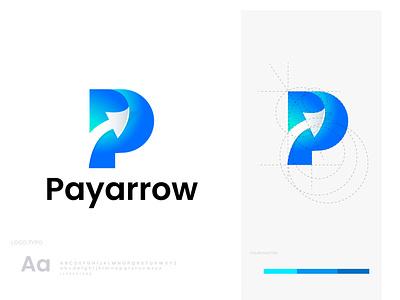 Letter P logo with arrow arrow p arrow p letter creative design logo creation modern logo logo design graphic design branding logo