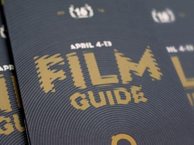 2014 RiverRun Film Festival Creative typography film festival brochure posters environmental