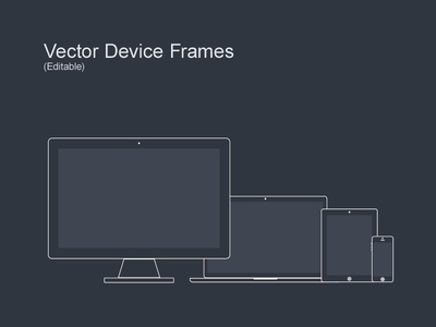 Vector Device Wireframes