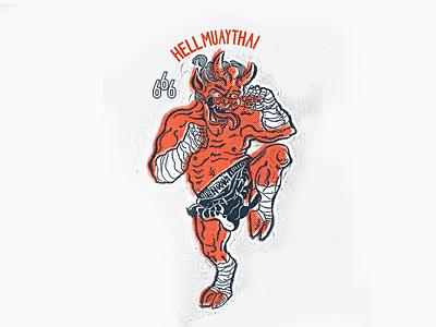 Hell Muay Thai 666 devil hell demon thai boxing muay thai