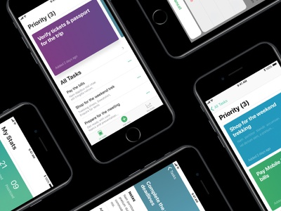 WIP - Task Management app based on complex reduction list minimal todo iphone mobileapp task priority taskmanagement complexreduction ios11 ios
