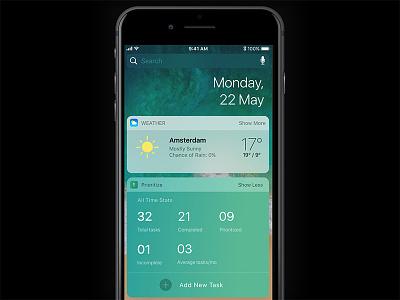 iOS widgets for Prioritize (WIP) productivity apple ios complexreduction mobileapp widgets ios11