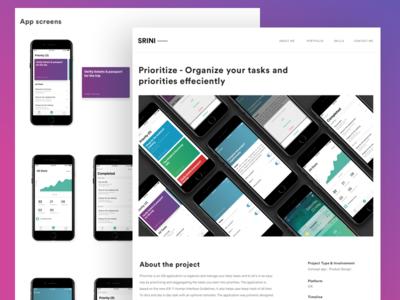 Portfolio Website - Case studies webdesign works casestudy website portfolio