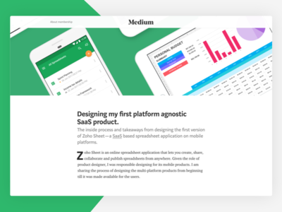 Designing my first SaaS product (Article) android ios workflow productdesign medium saas article