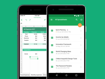 Zoho Sheet for iOS and Android productivity sheet mobileapp spreadsheet android ios
