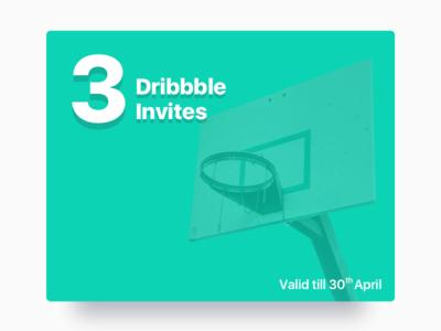 Invites up for grab! 📩 shot basketball player debut invite dribbble