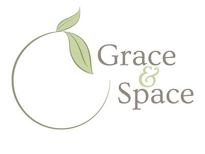 Grace & Space logo botanical floral vector nature feminine adobe illustrator illustration logo