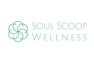 Soul Scoop Wellness logo minimal branding floral botanical logo adobe illustrator vector illustration