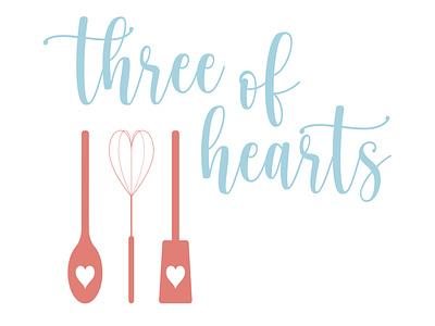 three of hearts logo branding feminine logo adobe illustrator vector illustration