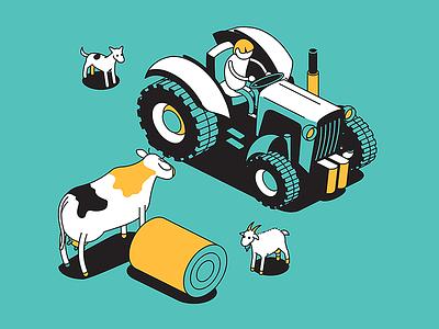 pasture farming animate cc pasture isometric dairy farm agriculture
