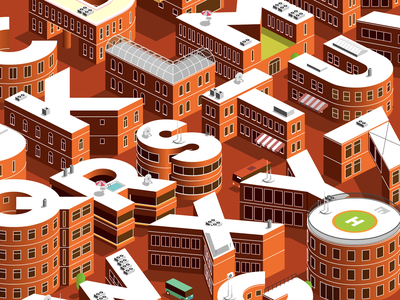 city of letters city letters alphabet isometric