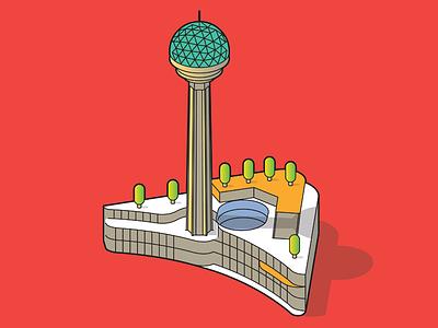 atakule icon tower isometric ankara atakule