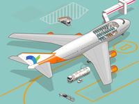 cutaway 747 on apron