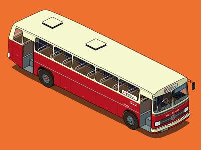 municipal bus ankara - 1980s