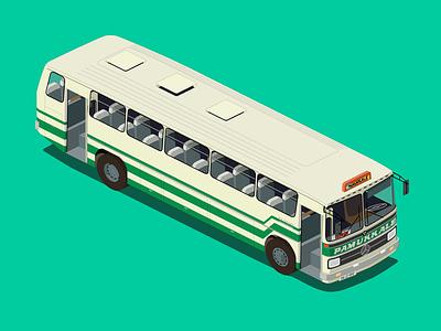 pamukkale coach 1980s isometric coach bus pamukkale
