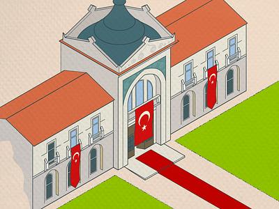 ankara palas isometric ulus turkey ankara