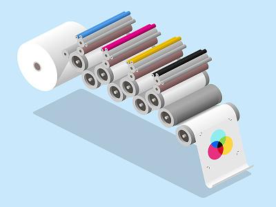 cmyk printing animate cc process printing press print press offset cmyk isometric