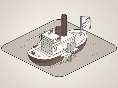 90 years tribute - disney tribute animate cc ship steamboat mickey disney isometric