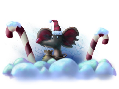 wild mouse xmass winter snow photoshop newyear illustration forchildren drawing draw childrenbook mouse wild