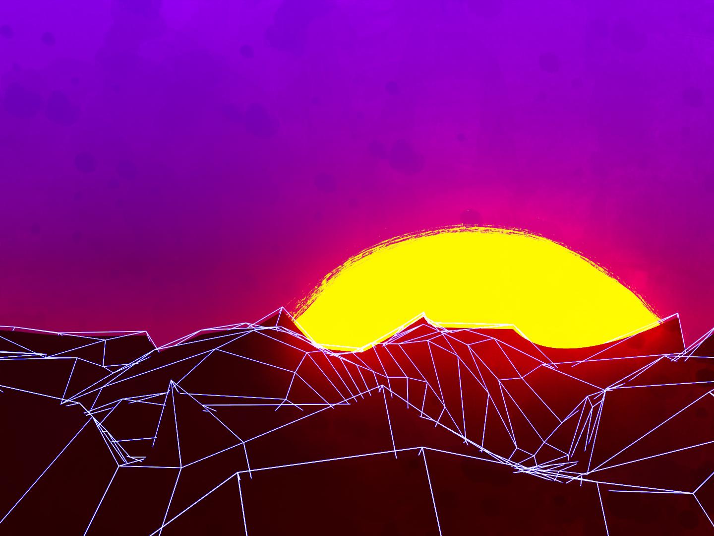 Red Dead Retrowave 2d design composit 3d retro landscape red dead redemption photoshop blender
