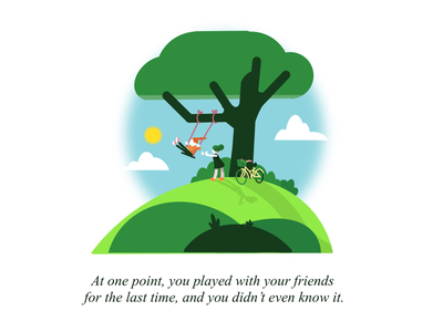 At one point, you played with your friends... procreate friends quote characters artwork illustration