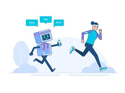 Smartbot fitness tracker smartbots fitness character design character illustration