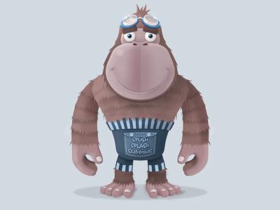 Splish Splash Swimming's Mascot vector photoshop illustrator illustration character