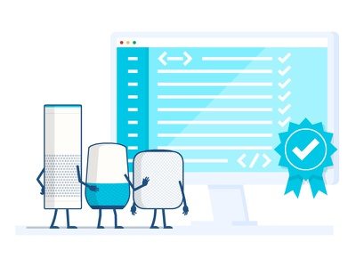 Lets talk about voice code illustration vector devices voices