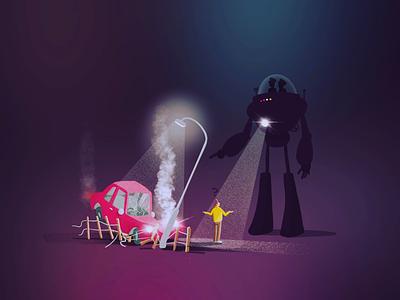 Robocopped car future robot procreate app procreate character illustration