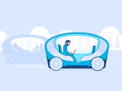 Driverless Cars animation after effects loop travel futuristic iot driverless character design design illustration character tech future