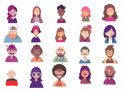 Little character doodles avatars illustration doodles characters procreate