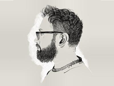 Self Portrait drawing portrait illustration procreate