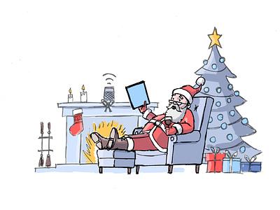Christmas email campaign illustration character christmas santa