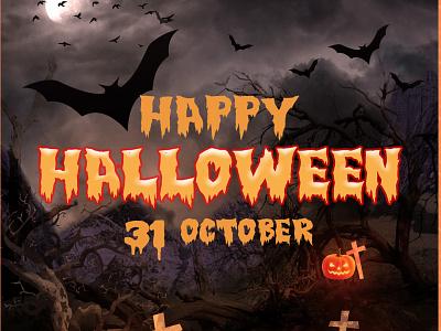 Halloween Poster photoshop halloween design halloween poster design poster graphic design design art