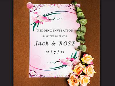 Invitation card design wedding invitation wedding card invitation card poster poster design illustrator vector illustration design graphic design